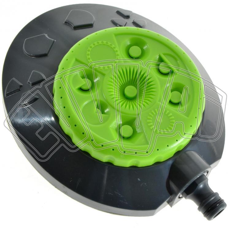 Irrigatore 8 getti regolabile per tubo acqua irrigazione for Getti x irrigazione
