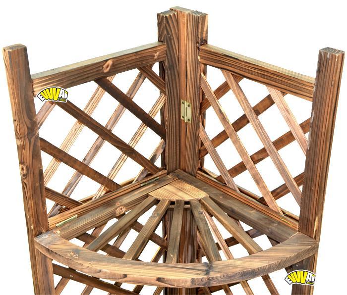 Angolo portafiori in legno 3 piani fioriera porta vasi per for Portafiori in legno