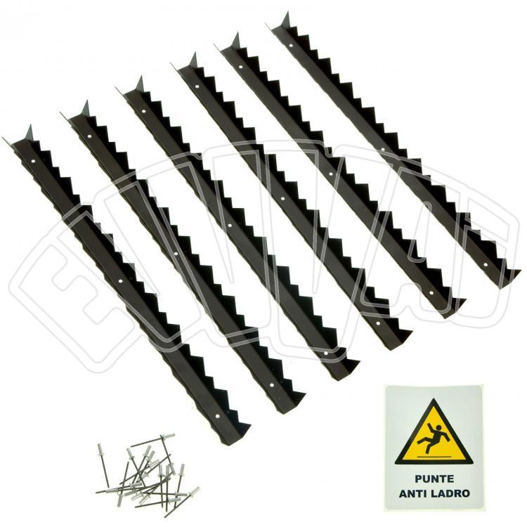 Kit punte antiladro per grondaie barre con spuntoni - Barre antintrusione per finestre ...