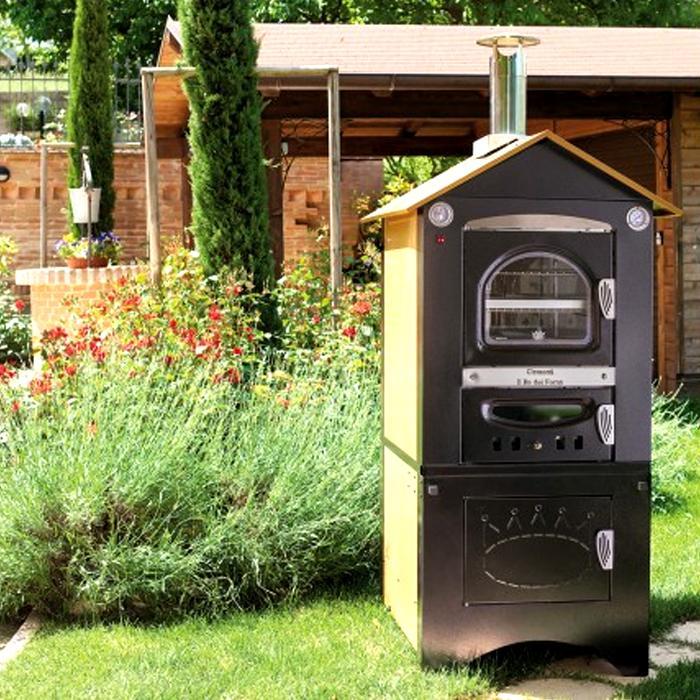 Smart forno a legna da esterno con tetto per cucina barbecue giardino clementi ebay - Forno per giardino ...